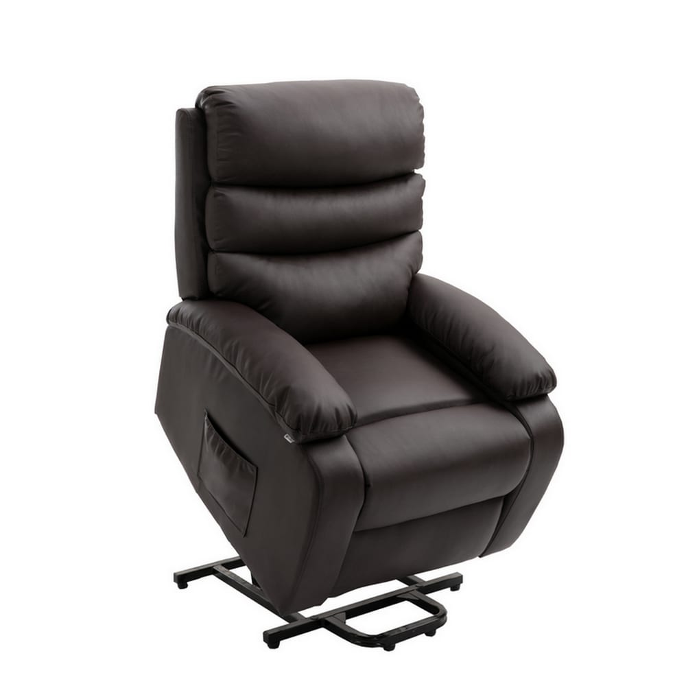 Fine Homegear Pu Leather Power Lift Electric Recliner Chair With Massage Heat And Vibration With Remote Brown Ncnpc Chair Design For Home Ncnpcorg