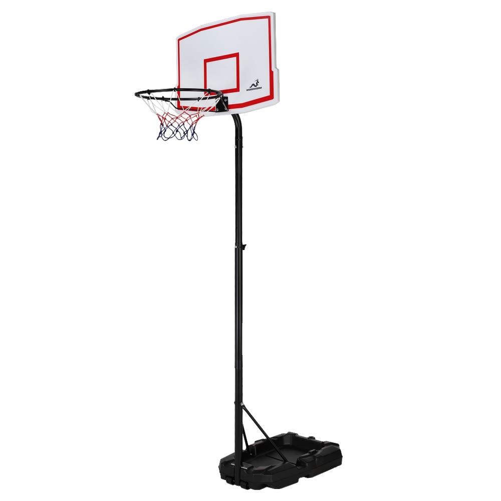 EX-DEMO Woodworm Outdoor Adjustable Basketball Stand & Hoop Set