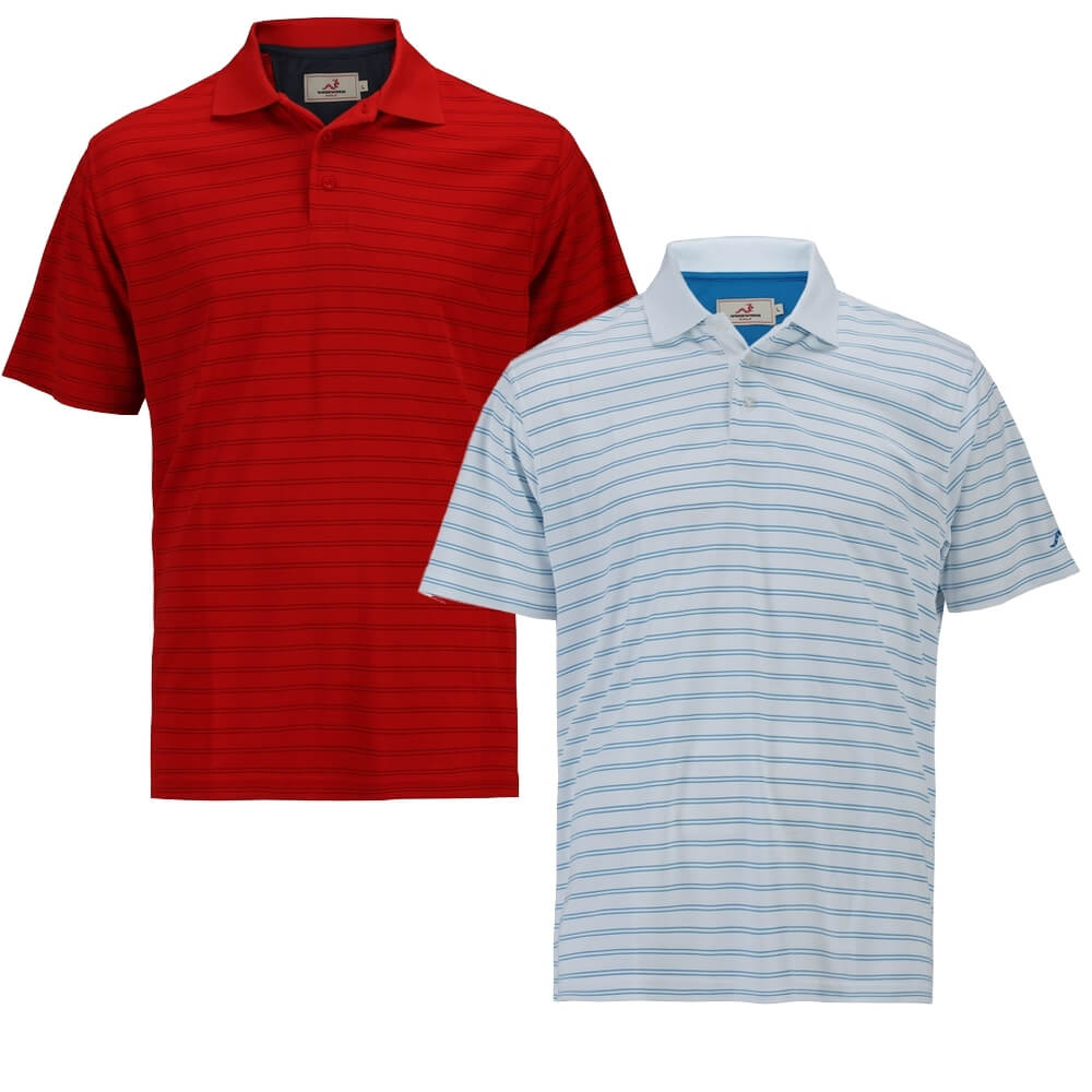 Woodworm Tour Stripe Polo 2Pack
