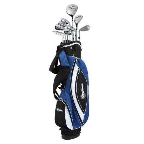 Confidence Golf Mens Power V3 Youth -1 Inch Club Set and Stand Bag