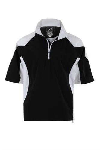 Woodworm Golf V2 Waterproof Half Sleeve Top Black