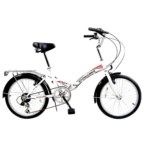 Stowabike Folding City V2 Compact Bike Red / White