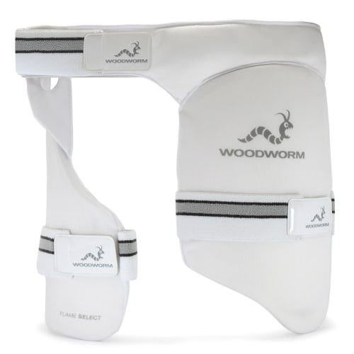 Woodworm Cricket Flame Select Dual Thigh Pad / Inner Thigh Lower Body Protector, Right Hand