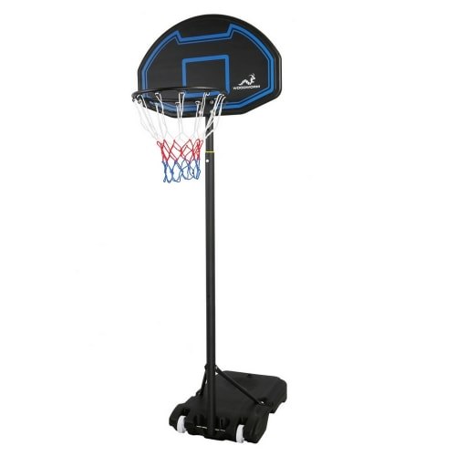Woodworm Outdoor Select Adult Adjustable Full Size Basketball Hoop System and Stand