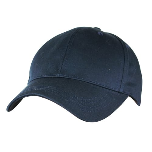 Woodworm Cricket Plain Cotton Cap - Navy