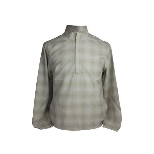 Ashworth Golf Mens LS Checkered Half Zip Windshirt