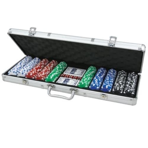 CQ Poker 500 Dice 11.5g Poker Chips in Aluminium Case