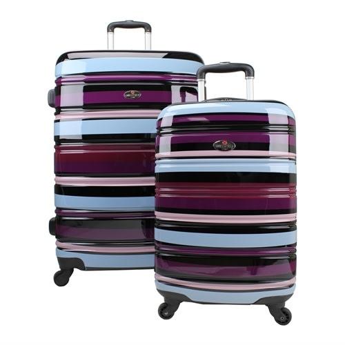 OPEN BOX Swiss Case 4W 2pc Suitcase Set Colorful
