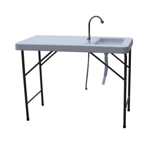 OPEN BOX Palm Springs Fish Fillet Table With 1.5 Gal Sink
