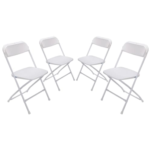 Palm Springs Heavy Duty Folding Plastic/Steel Chairs V2 – 4 PACK