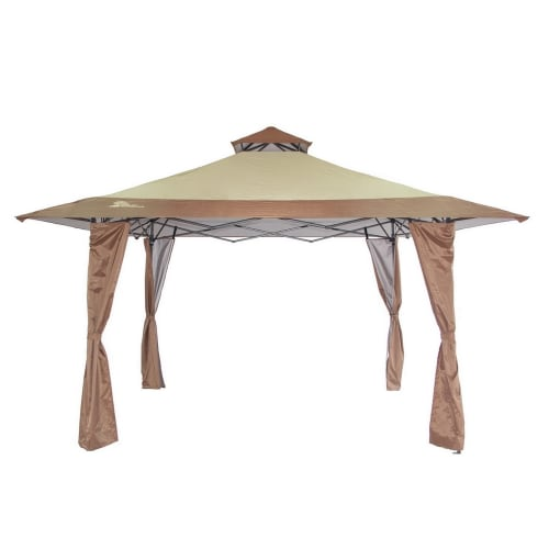 Palm Springs 4m x 4m Double Top Pop Up Gazebo - Tan / Beige