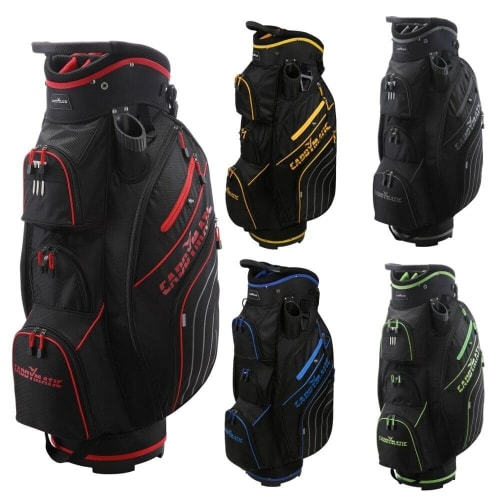 Caddymatic Golf Deluxe 14 Way Divider Top Trolley Bag