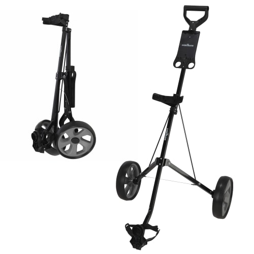 Caddymatic Golf i-Trac 2 Wheel Folding Golf Cart Black/Grey