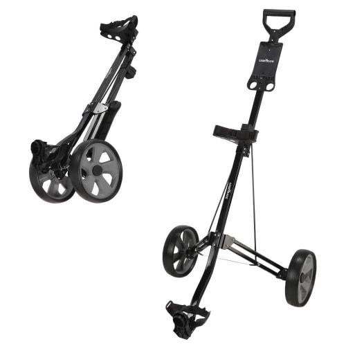 OPEN BOX Caddymatic Golf Lite Trac 2 Wheel Folding Golf Cart Black