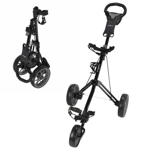 OPEN BOX Caddymatic Golf Pro Lite 3 Wheel Golf Cart Black/Grey