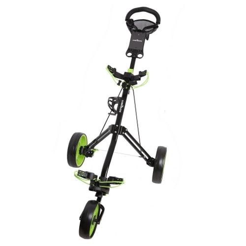 Caddymatic Golf Pro Lite 3 Wheel Golf Cart Black/Green