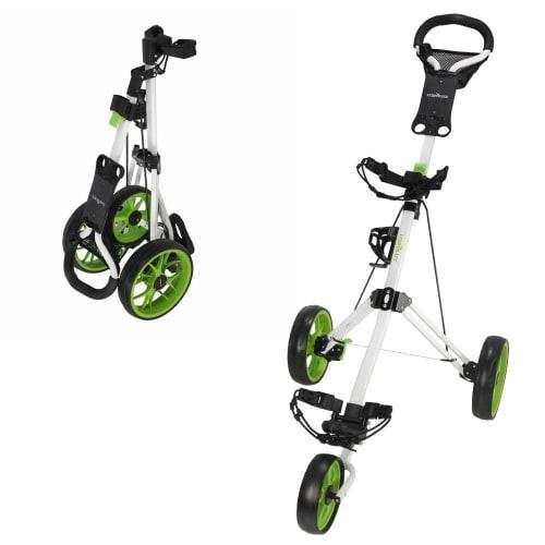 OPEN BOX Caddymatic Golf Pro Lite 3 Wheel Golf Cart White/Green