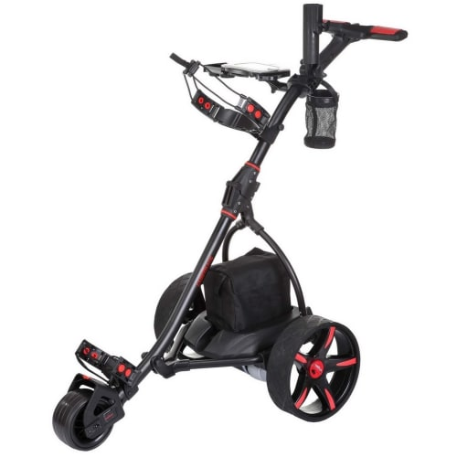 Caddymatic V2 Electric Golf Trolley / Cart With 18 Hole battery With Auto-Distance Functionality Black