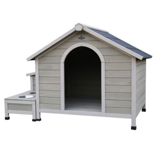 Confidence Pet Wooden Dog Kennel with Water Bowls