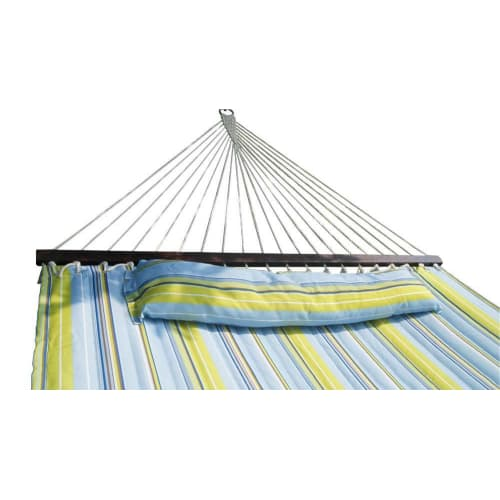 OPEN BOX Palm Springs Quilted Hammock Navy/Yellow