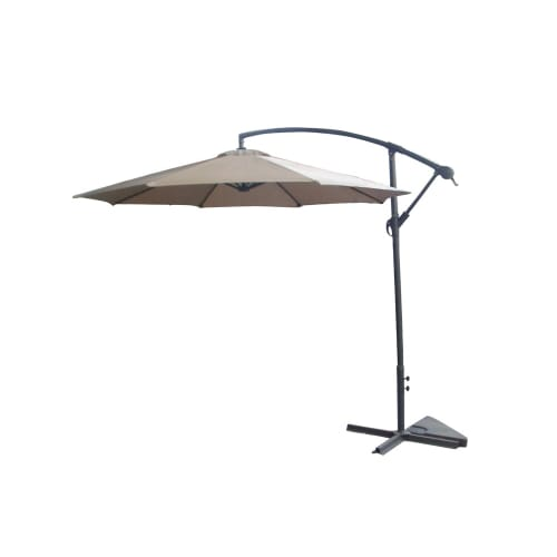 OPEN BOX Palm Springs 10ft Offset Umbrella- Cream