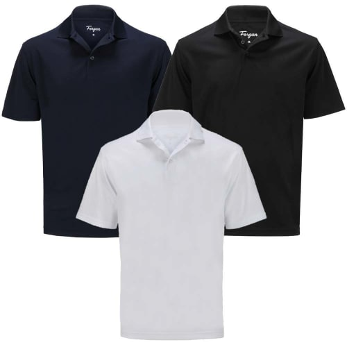 OPEN BOX Forgan of St Andrews Premium Performance Golf Shirts 3 Pack - Mens