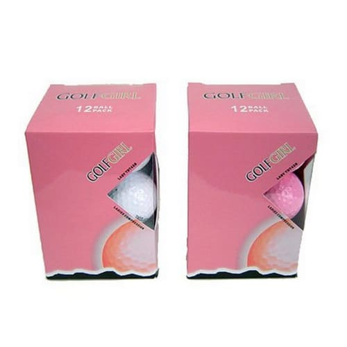 12 Golf Girl PINK Titanium Distance Golf Balls