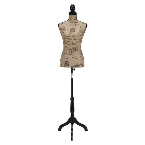 OPEN BOX Homegear Female Lady Mannequin Torso Form with Tripod Stand - Vintage