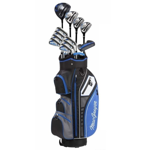 MacGregor Golf DCT3000 Premium Mens Golf Clubs Set, Graphite/Steel, Left Hand, Cart Bag