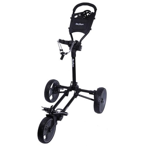 MacGregor Golf Flat Fold 3 Wheel Golf Cart - Folds Completely Flat - Black/Grey