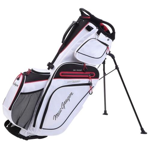 MacGregor Golf Hybrid Stand / Cart Golf Bag with 14 Way Divider, White/Black