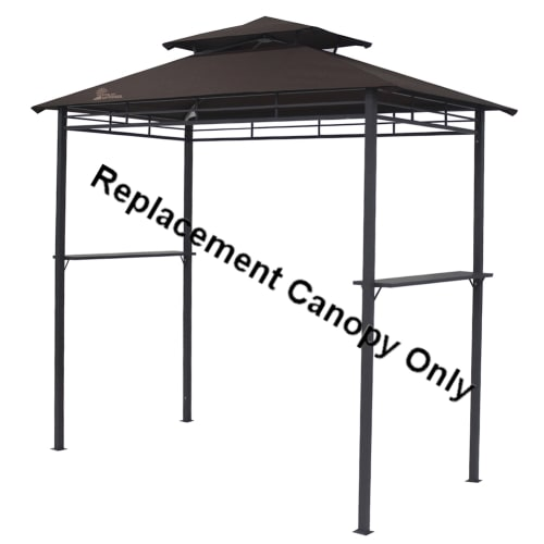 Palm Springs 8ft x 4ft BBQ Gazebo Tent Replacement Canopy Brown