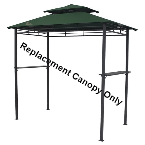 Palm Springs 8ft x 4ft BBQ Gazebo Tent Replacement Canopy Green