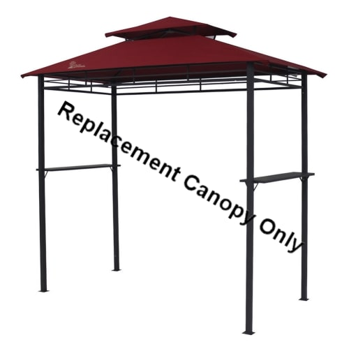 Palm Springs 8ft x 4ft BBQ Gazebo Tent Replacement Canopy Red