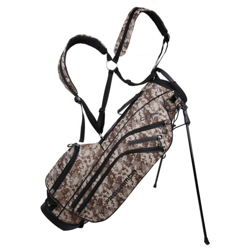 "Prosimmon Golf DRK 7"" Lightweight Golf Stand Bag with Dual Straps Camo"