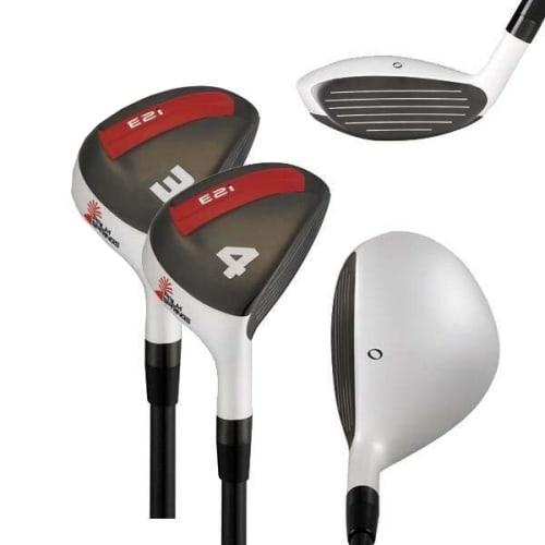 Palm Springs Golf E2i Mens 3-4 White Hybrid Set, Left Hand