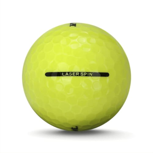 24 RAM Golf Laser Spin Golf Balls - Yellow