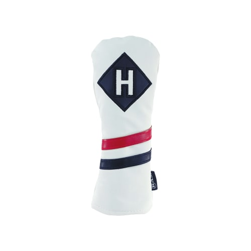 Ram Golf Premium Vintage Style PU Leather Headcovers, Retro White, Hybird