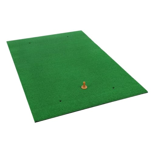 "Ram Golf Premium XL Practice Hitting Mat 40"" x 60"" - Realistic Synthetic Grass with Shock Absorbing EVA Rubber Base"