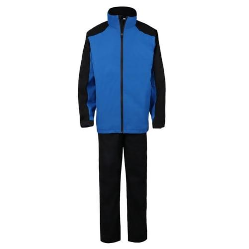 Ram Golf FX Premium Waterproof Suit (Jacket and Trousers), Black/Blue