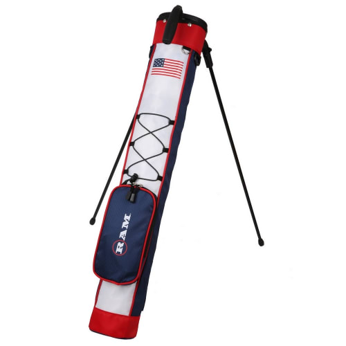 Ram Golf Pitch and Putt Lightweight Golf Carry Bag with Stand - USA Flag