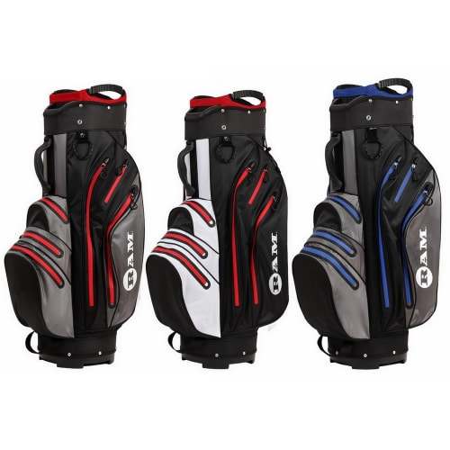 Ram Golf Waterproof Cart Bag - 14 Club Full Length Dividers