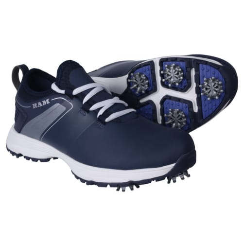Ram Golf XT1 Mens Golf Shoes, Spiked, Blue