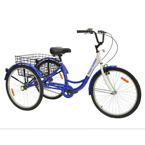 Royal London V2 Adult Tricycle 3 Wheeled Trike Bicycle w/ Wire Shopping Basket - Blue