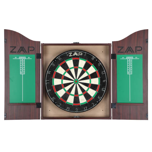 ZAAP Home Darts & Dartboard Set In Cabinet