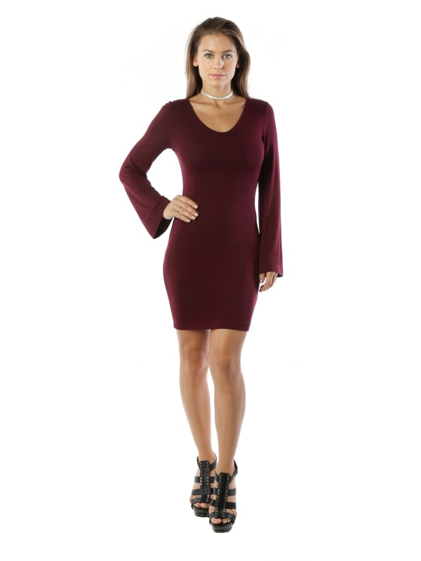 Long Sleeve Bodycon Dresses Plus Size