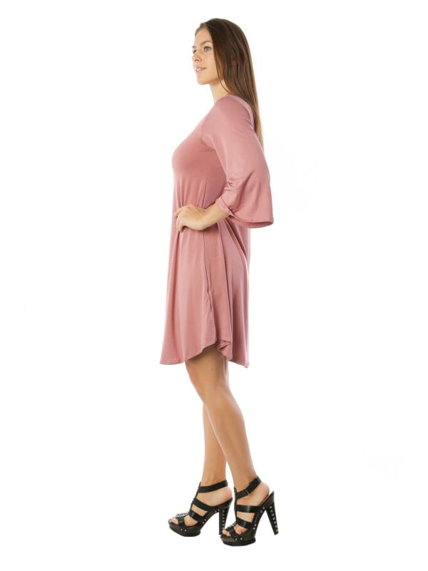 Flowy Tunic Tank Fashion Dress w/ Scoop Neck Swing Top - MADE IN USA - All Sizes + Colors