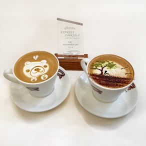 Muffin Break Coffee Art!