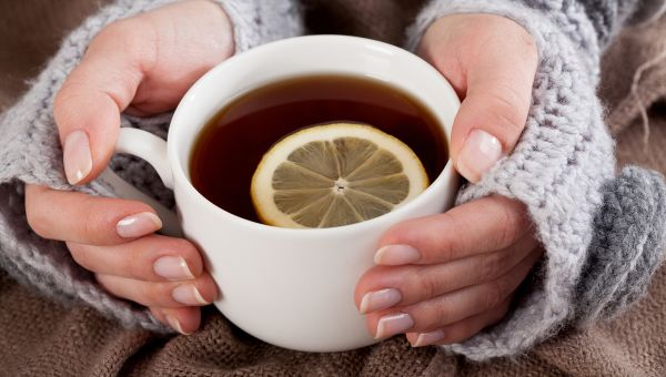 Hot Tea with Honey and Lemon