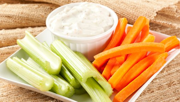 Garlic Herb Dip & Veggies